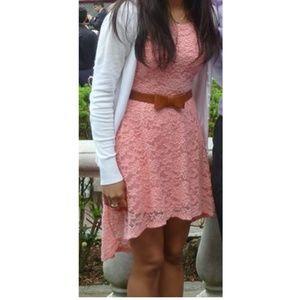Cute Pink Lace Dress